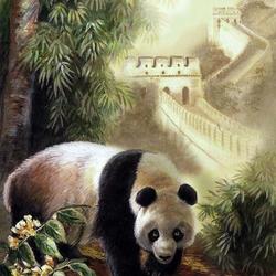 Пазл онлайн: Большая панда