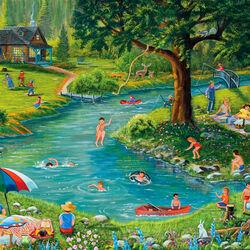 Пазл онлайн: Развлечения на озере