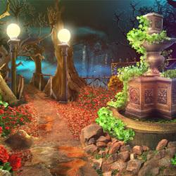 Пазл онлайн: Старый лесной фонтан