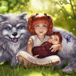 Пазл онлайн: Эбби, Олли и Момо