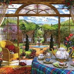 Пазл онлайн: Приятное чаепитие