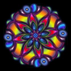 Пазл онлайн: Металлический цветок