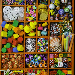 Пазл онлайн: Разноцветные мелочи
