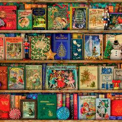 Пазл онлайн: Рождественская библиотека
