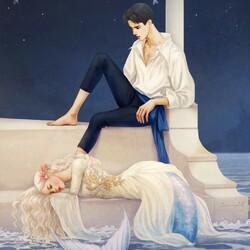 Пазл онлайн: Русалочка и принц