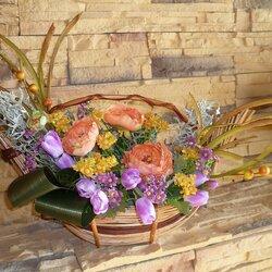 Пазл онлайн: Икебана из искусственных цветов