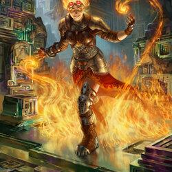 Пазл онлайн: Чандра: Призывающая огонь
