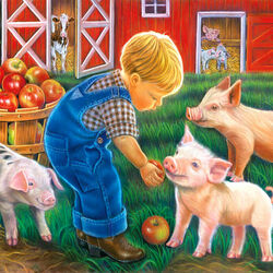 Пазл онлайн: Маленький фермер