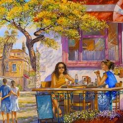 Пазл онлайн: Завтрак в кафе