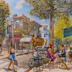 Пазл онлайн: Красочная улица