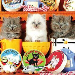 Пазл онлайн: Три котенка