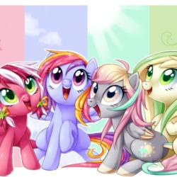 Пазл онлайн: Маленькие пони