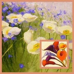 Пазл онлайн: Живописные цветы