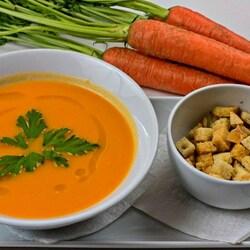 Пазл онлайн: Морковный суп