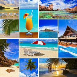 Пазл онлайн: Отдых-море-пляж
