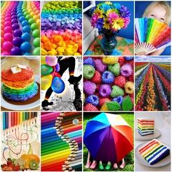 Пазл онлайн: Радуги краски