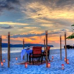 Пазл онлайн: Романтический ужин