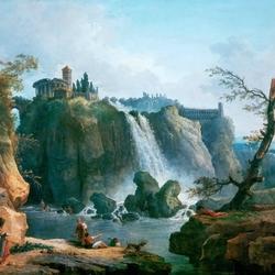Пазл онлайн: Водопад в Тиволи