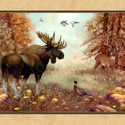 Пазл онлайн: Лесной богатырь