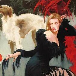 Пазл онлайн: Дама с собакой