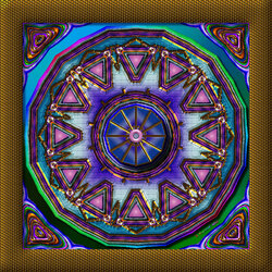 Пазл онлайн: Мандала змеиного кольца
