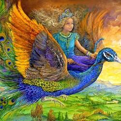 Пазл онлайн: Принцесса на павлине