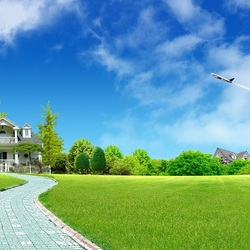 Пазл онлайн: Загородный дом