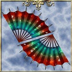 Пазл онлайн: Боевые веера с пиками
