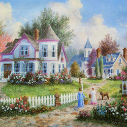 Пазл онлайн: Соседки