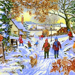 Пазл онлайн: Чудесный, зимний день