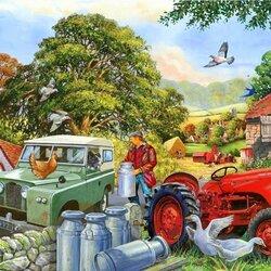 Пазл онлайн: Фермерские продукты