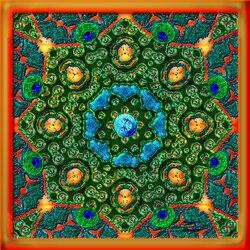 Пазл онлайн: Калейдоскоп неонового павлина