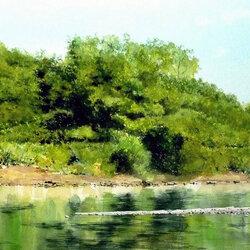 Пазл онлайн: Зеленый берег