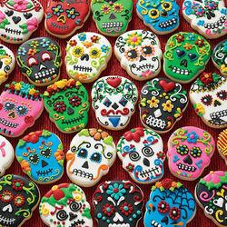 Пазл онлайн: Печенье на Хэллоуин
