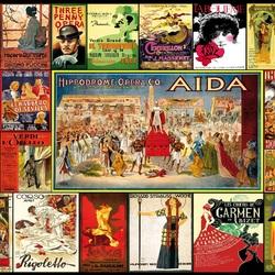 Пазл онлайн: Старинные оперные афиши