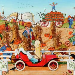 Пазл онлайн: Урожай на ферме