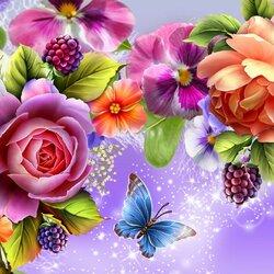 Пазл онлайн: Венок из цветов