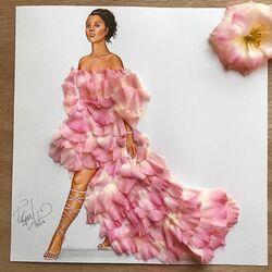 Пазл онлайн: Платье из лепестков