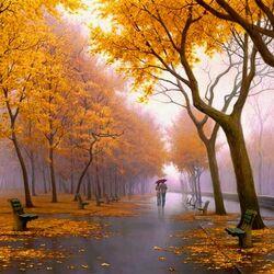 Пазл онлайн: Октябрьская прогулка