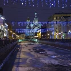 Пазл онлайн: Ночной Санкт-Петербург
