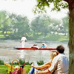 Пазл онлайн: Пикник у озера