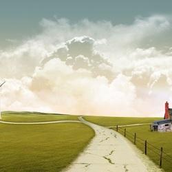 Пазл онлайн: Ветряная ферма