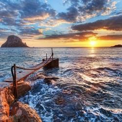 Пазл онлайн: Море на закате