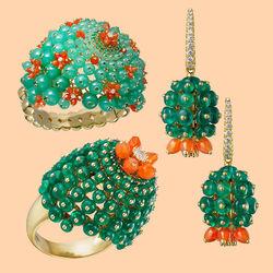 Пазл онлайн: Драгоценные кактусы
