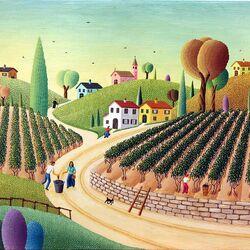 Пазл онлайн: Сбор винограда