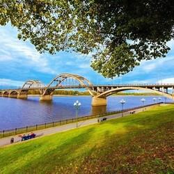 Пазл онлайн: Волжский мост - Рыбинск
