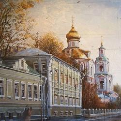 Пазл онлайн: Московская улочка