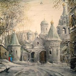 Пазл онлайн: Подворье Свято-Пантелеимонова монастыря