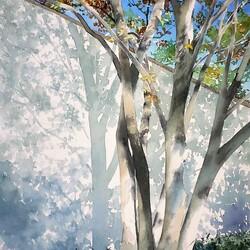 Пазл онлайн: Дерево у забора