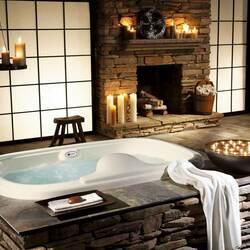 Пазл онлайн: Ванная в японском стиле